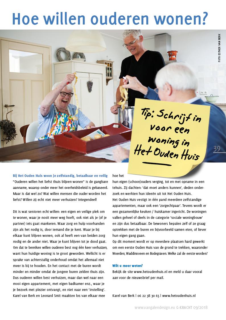 Artikel over Het Ouden Huis: Hoe willen ouderen wonen?